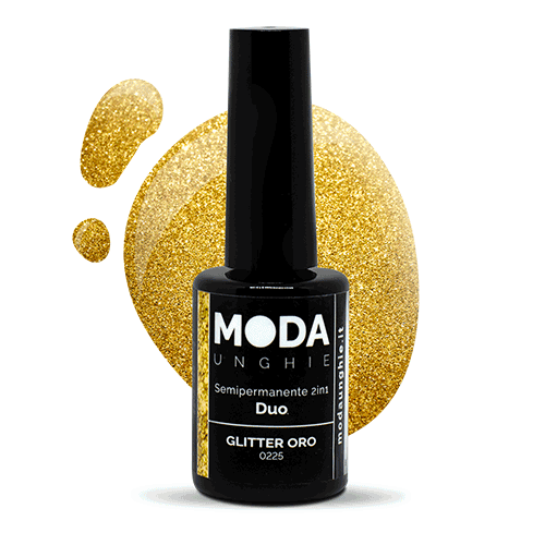 Duo Color Glitter Oro Semipermanente