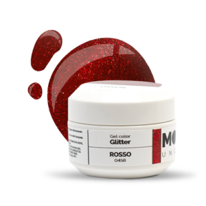 Gel Color Glitter Rosso